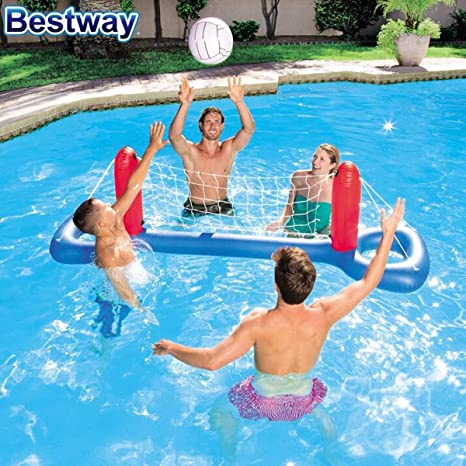 LEMON TREE SL Juego Hinchable de Volleyball Flotante Piscina. 244 ...