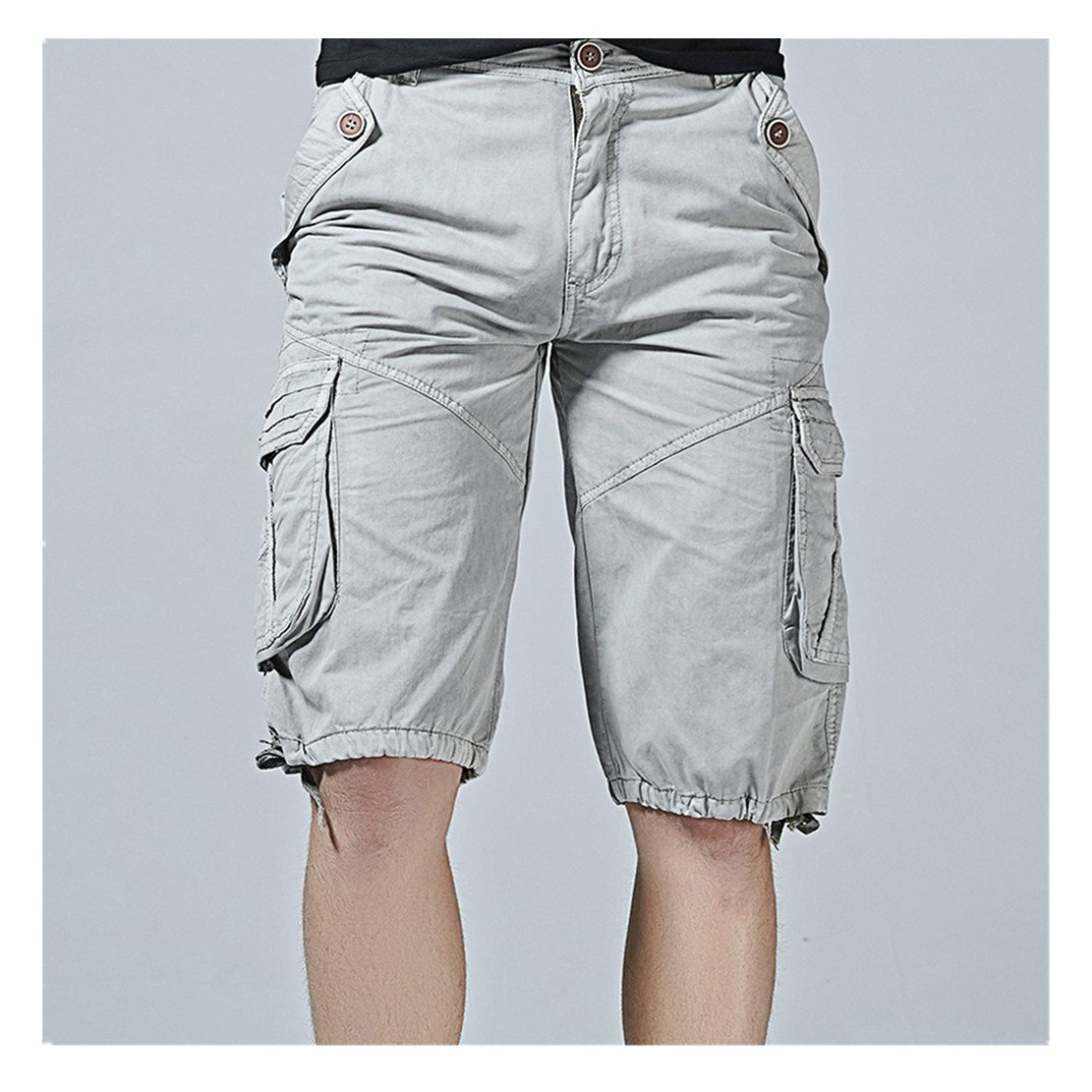 WEUIE Clearance Sale Fashion Mens Casual Pocket Beach Work Casual Short Trouser Shorts Pants (38,Gray )