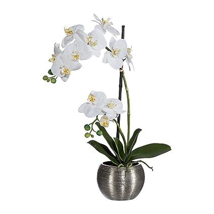 Amazon Deutschmade Artificial Flower White Orchid Phalaenopsis