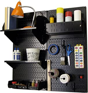 product image for Wall Control Pegboard Hobby Craft Pegboard Organizer Storage Kit with Black Pegboard and Black Accessories