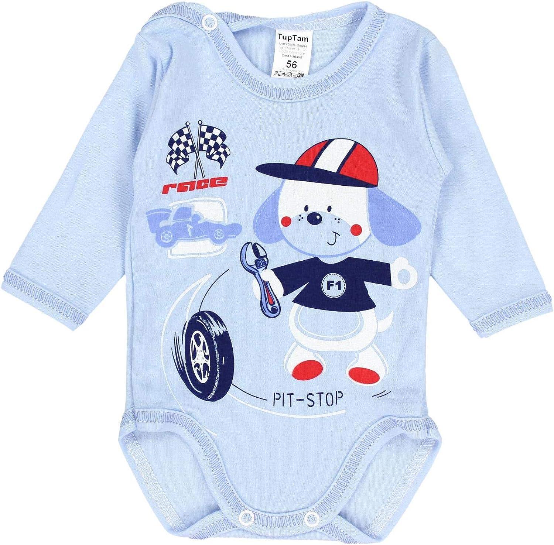 TupTam Baby Girls Bodysuits Long Sleeve Imprints Pack of 3