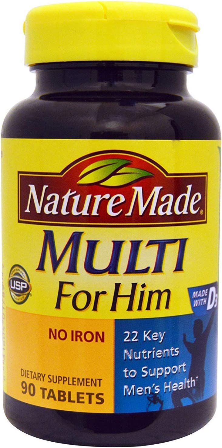 Nature Made Multi For Him 90 Tablets (Pack of 4)