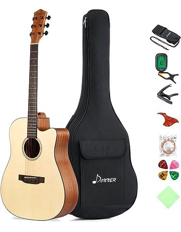 6f9d5c0b3ed Donner DAG-1C Beginner Acoustic Guitar Full Size, 41