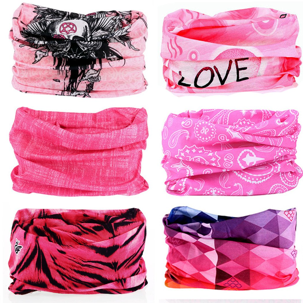 KALILY 6PCS 9PCS Headband Bandana - Versatile Sports Casual Headwear –Multifunctional  Seamless Neck Gaiter 262a5203a8fe