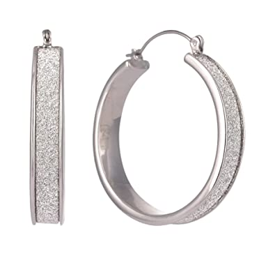 ce897d481a1 Buy Steve Madden Festive Silver Metal Hoop Earrings for Women (SME420568RH)  Online at Low Prices in India