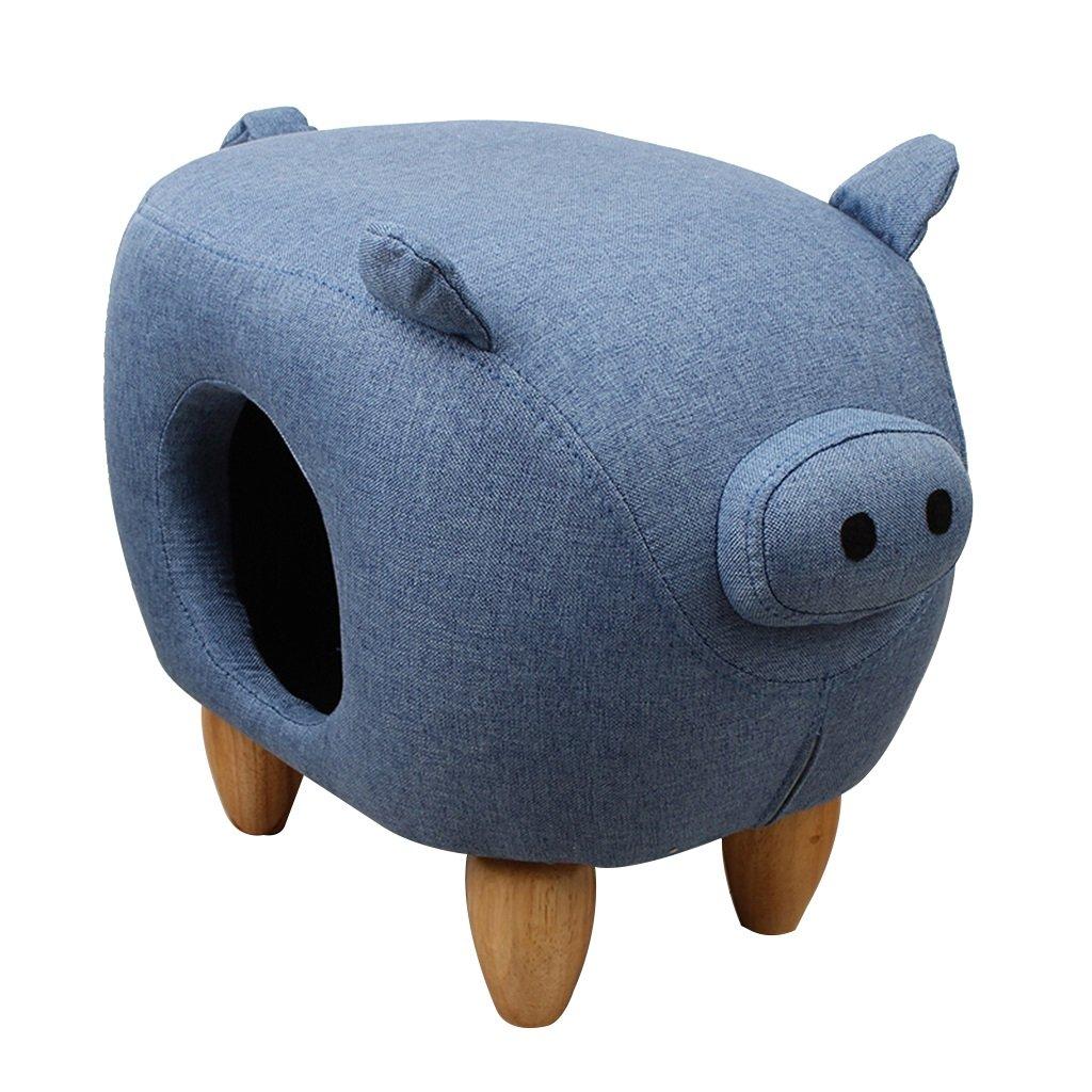 YE ZI ペット用品- 豚の形ペットネスト四季の利用可能耐磨耗性一定温度ノンスリップオプションの色 安全で簡単に清掃できます (色 : ゴールド) B07KQ4Z2KZ 青  青