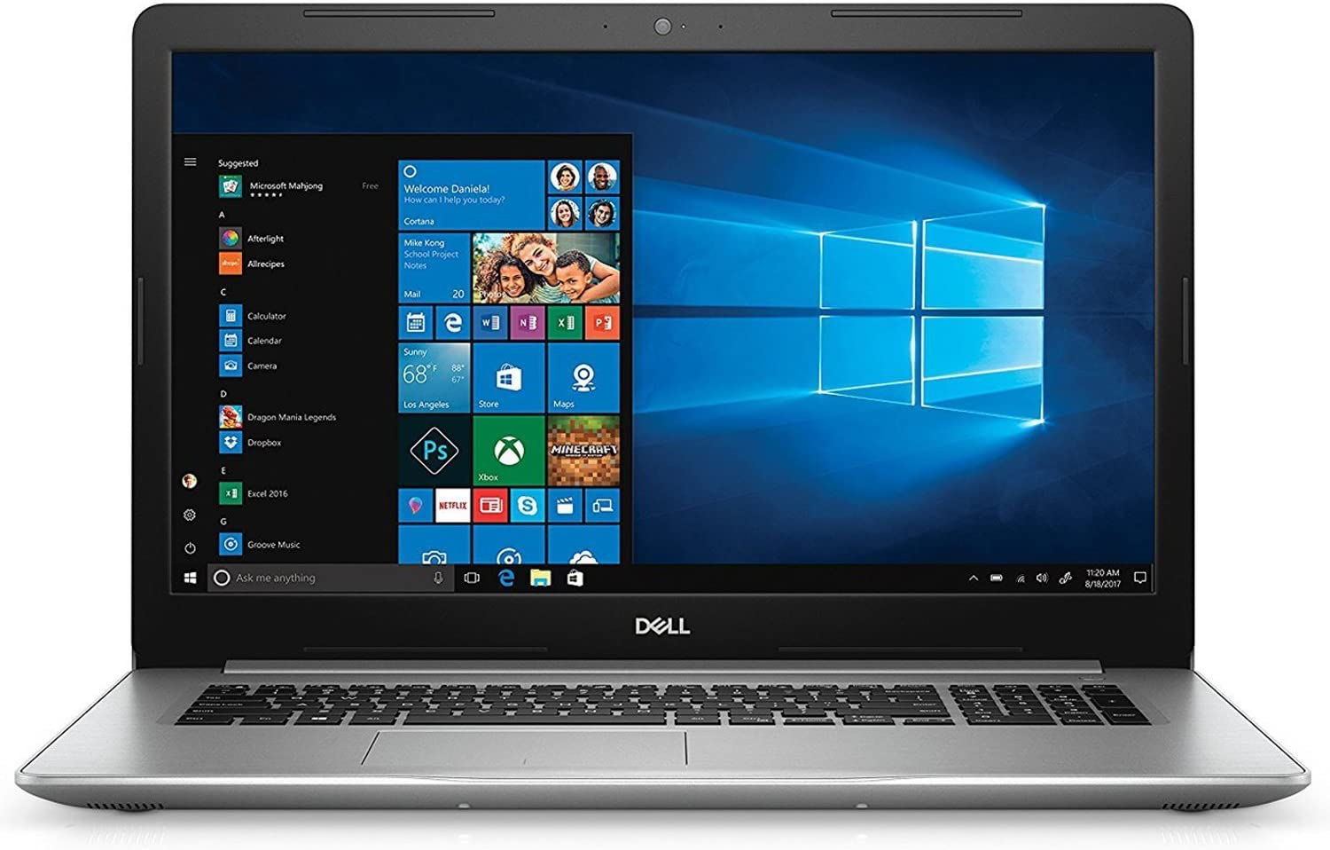 "2019 Dell 17.3"" Inspiron 17 5000 Laptop Computer, Intel Core i7-8550U Up to 1.8GHz, 16GB DDR4 RAM, 512GB SSD + 2TB HDD, 802.11AC WiFi, Bluetooth 4.1, USB 3.1, HDMI, DVD-RW, Windows 10 Professional"