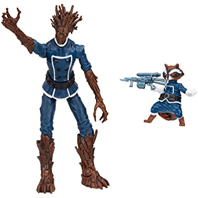 Marvel Legends Series Guardians of the Galaxy Rocket Raccoon and Groot Action Figures: Toys & Games