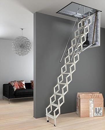 Escalera plegable (eléctrico – altura máxima: bajo techo 3.00 m: Amazon.es: Bricolaje y herramientas