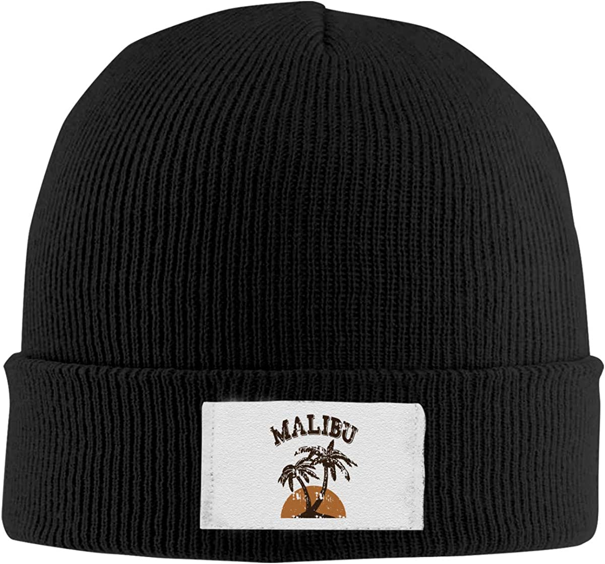 ASDGEGASFAS Unisex Malibu Rum Skull Cap Knit Wool Beanie Hat Stretchy Solid Daily Wear
