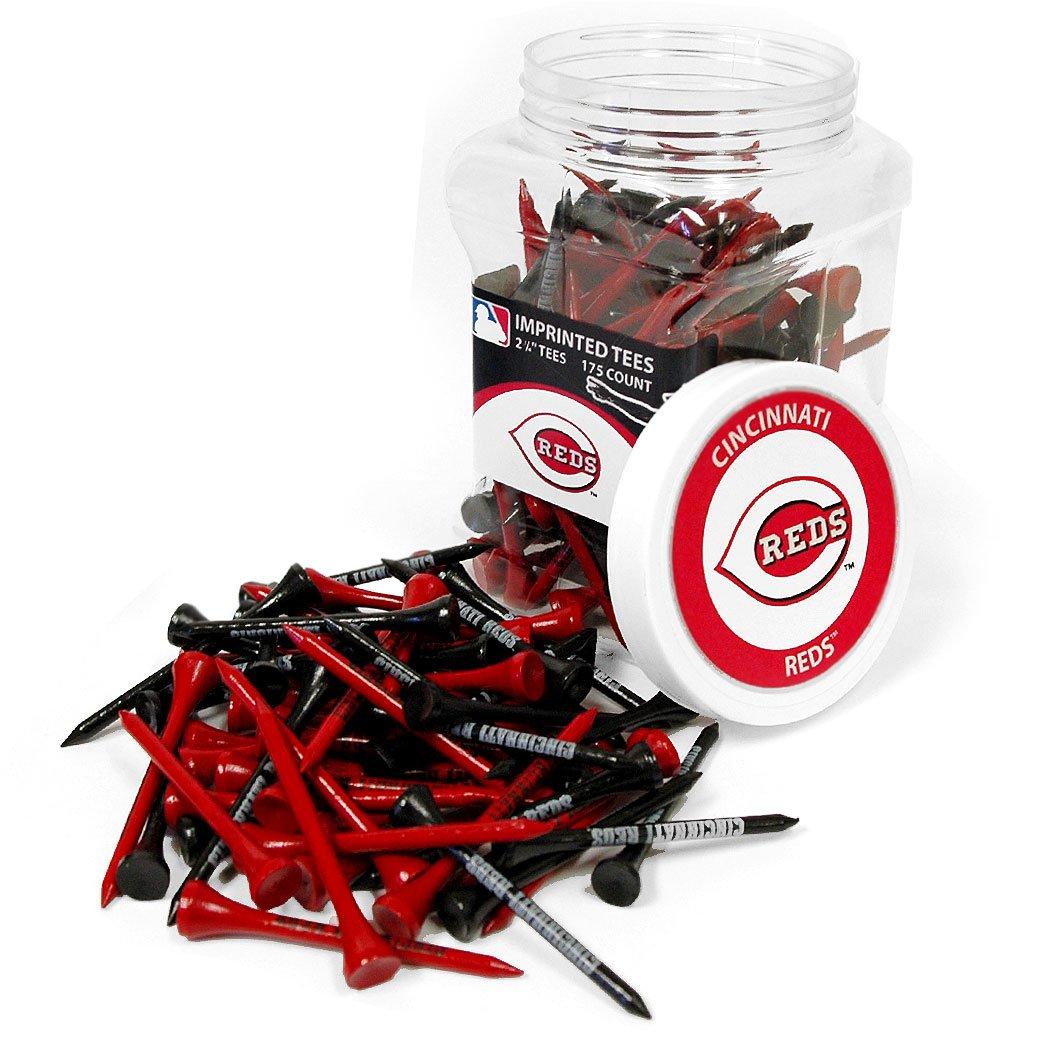 Team Golf MLB Cincinnati Reds 2-3/4'' Golf Tees, 175 Pack, Regulation Size, Multi Team Colors
