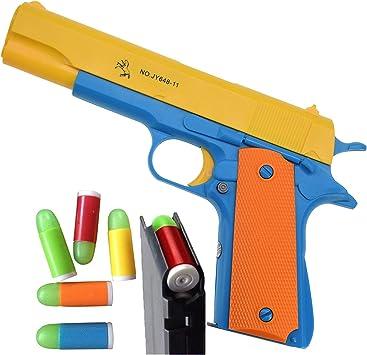 Amazon.com: Feisuo Blasters - Pistola de juguete con balas ...