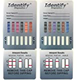 100 Pack Identify Diagnostics 12 Panel Drug Test Dip - Testing Instantly for 12 Different Drugs THC, COC, MOP, OXY, MDMA…