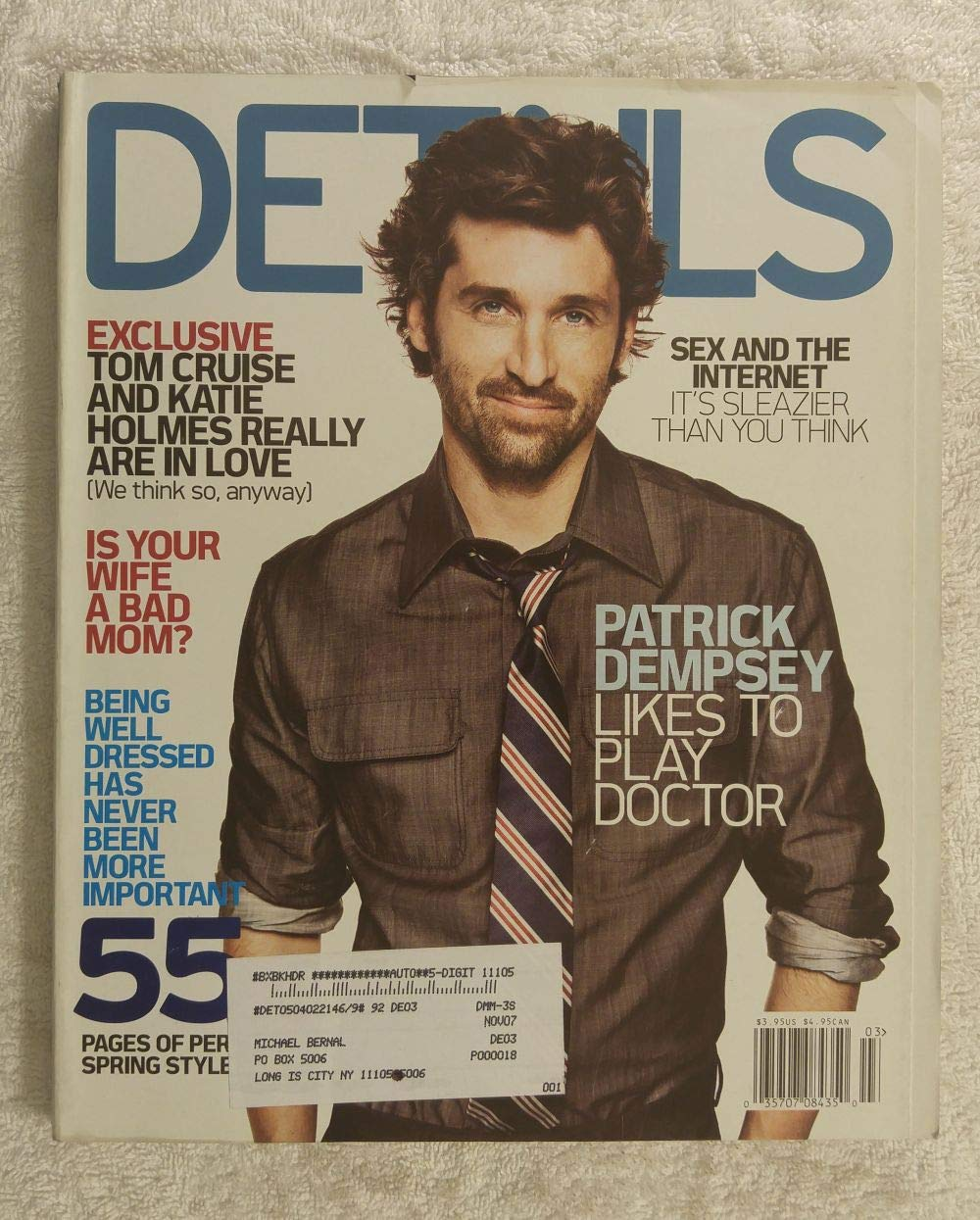 Patrick Dempsey Likes To Play Doctor Details Magazine March