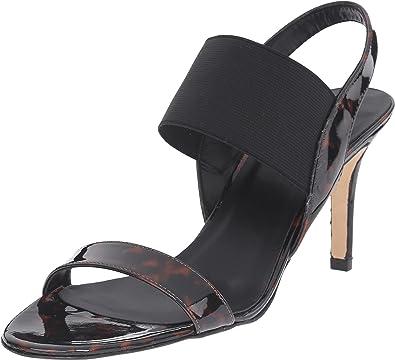 Vaneli Women's Tinin Sandra Loc Tortoise Patent/Black Elastic/Black  Porolining Sandal 5 M