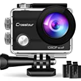 """Crosstour Action Camera Full HD Wi-Fi 14MP PC Webcam Waterproof Cam 2"""" LCD 30M Underwater 170°Wide-Angle Sports Camera with 2"""