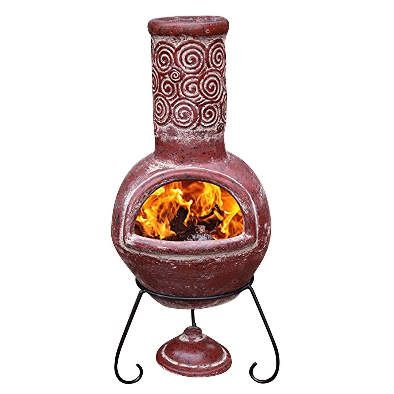 Gardeco Espiral Mexican Chimney, Red, Large C21ES.02