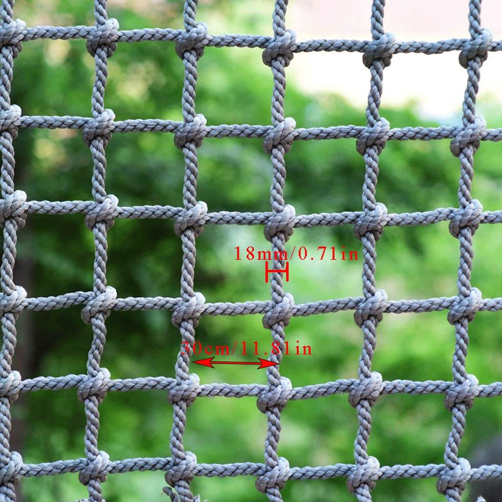 Climbing Net Adult, Outdoor Climbing Net Playground Sports Training Climbing Safety Net, Game Pet Stair Balcony Tree House Fence Decoration Net, Cargo Rope Trailer Re-net ( Size : 13m(3.39.8ft) ) by Fyyxxhh