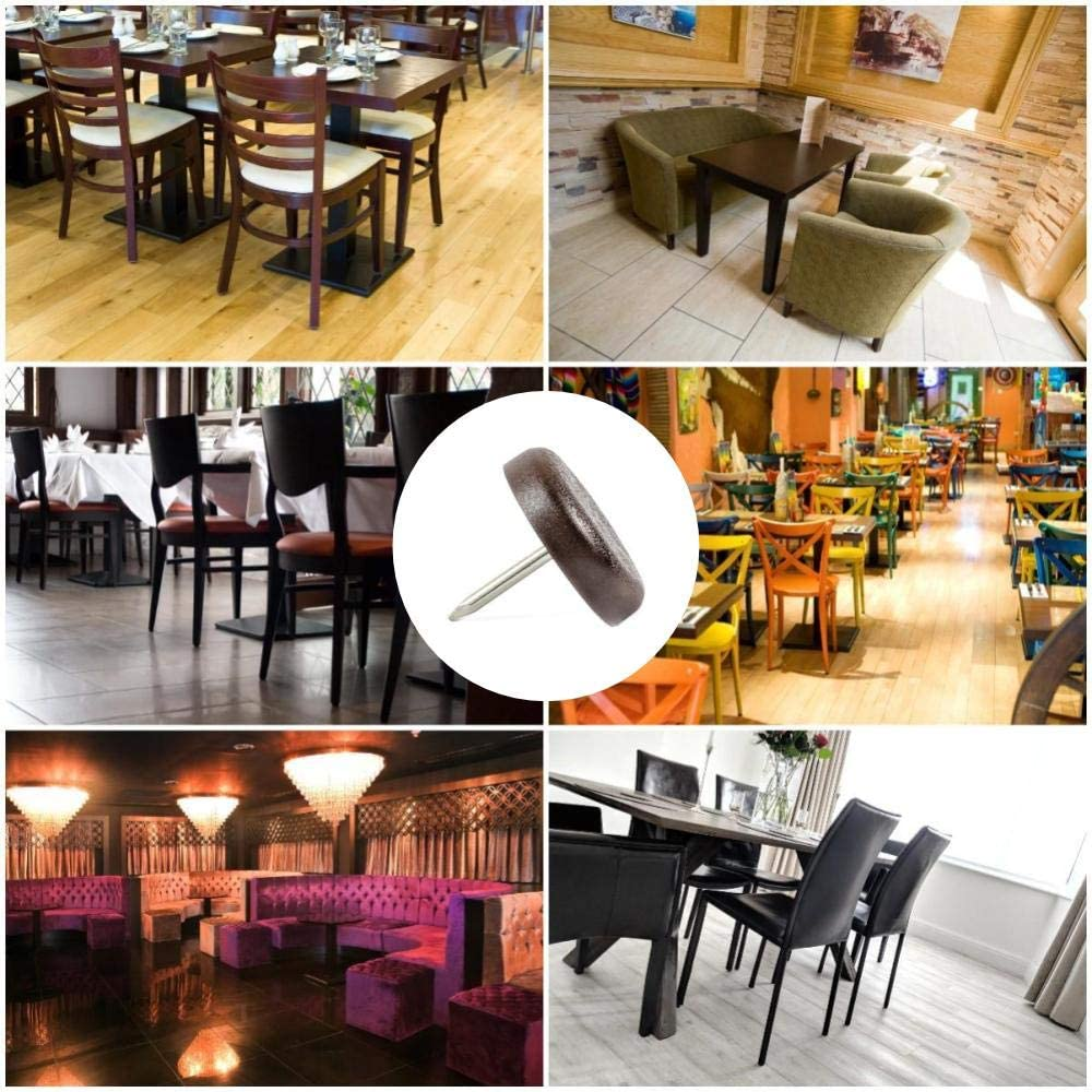 and Home use Restaurant, Cafe bar, etc White Plastic Protector Pads 25mm or 21mm Diameter with Screw Furniture Table Chair Glides Commercial Pack of 4 Made in Germany