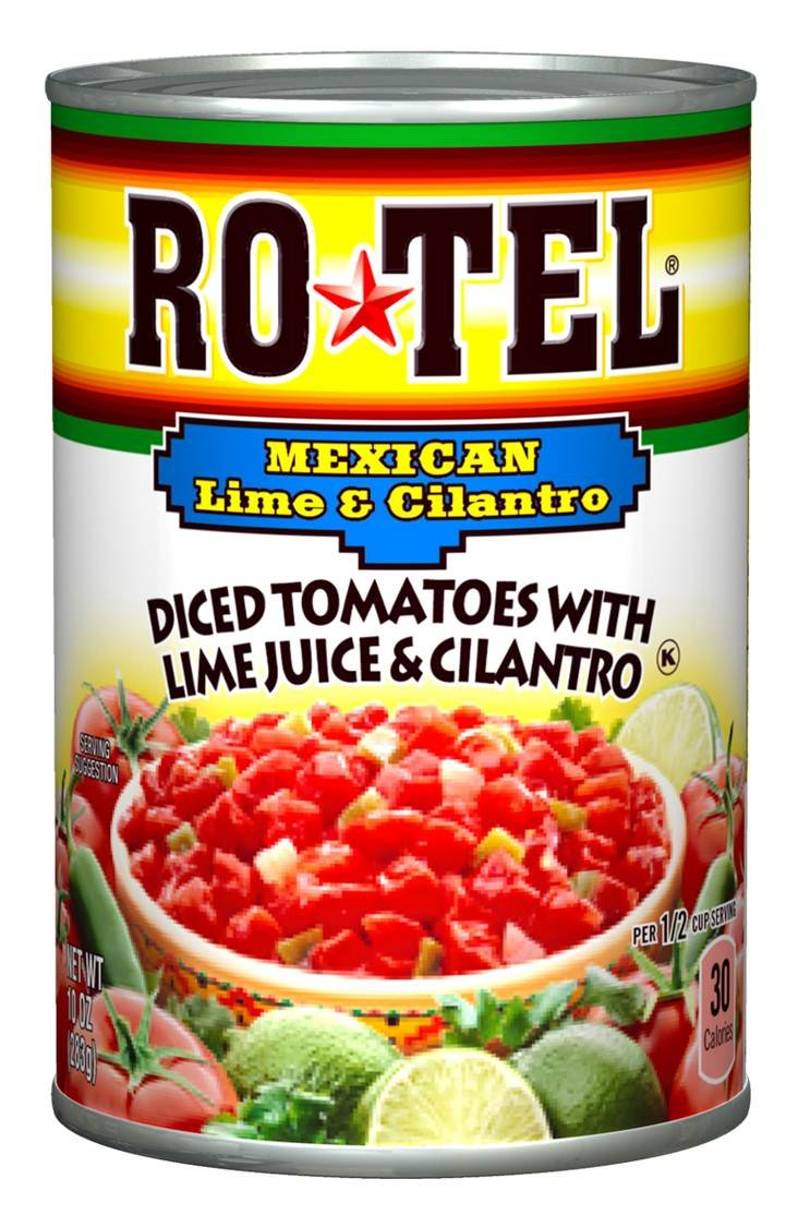 ROTEL Mexican Style Diced Tomatoes with Lime Juice and Cilantro, 10 Ounce, 12 Pack