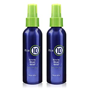 ITS A 10 by It's a 10 MIRACLE SHINE SPRAY WITH NONI OIL 4 OZ (Package Of 2)