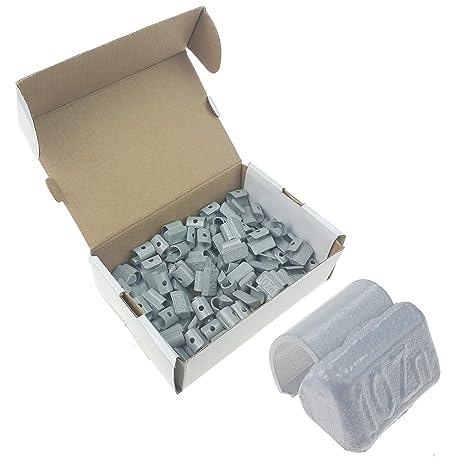 Stix - 100 pesas de 10 g para llantas de aleación/marca, con revestimiento