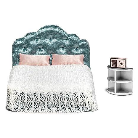 Amazon Com Lundby Dollhouse Bedroom Furniture Set Modern Bed