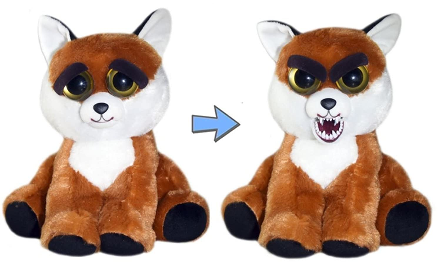 Feisty Pets William Mark Sly Sissypants Adorable 8.5 Plush Stuffed Fox That Turns Feisty with A Squeeze