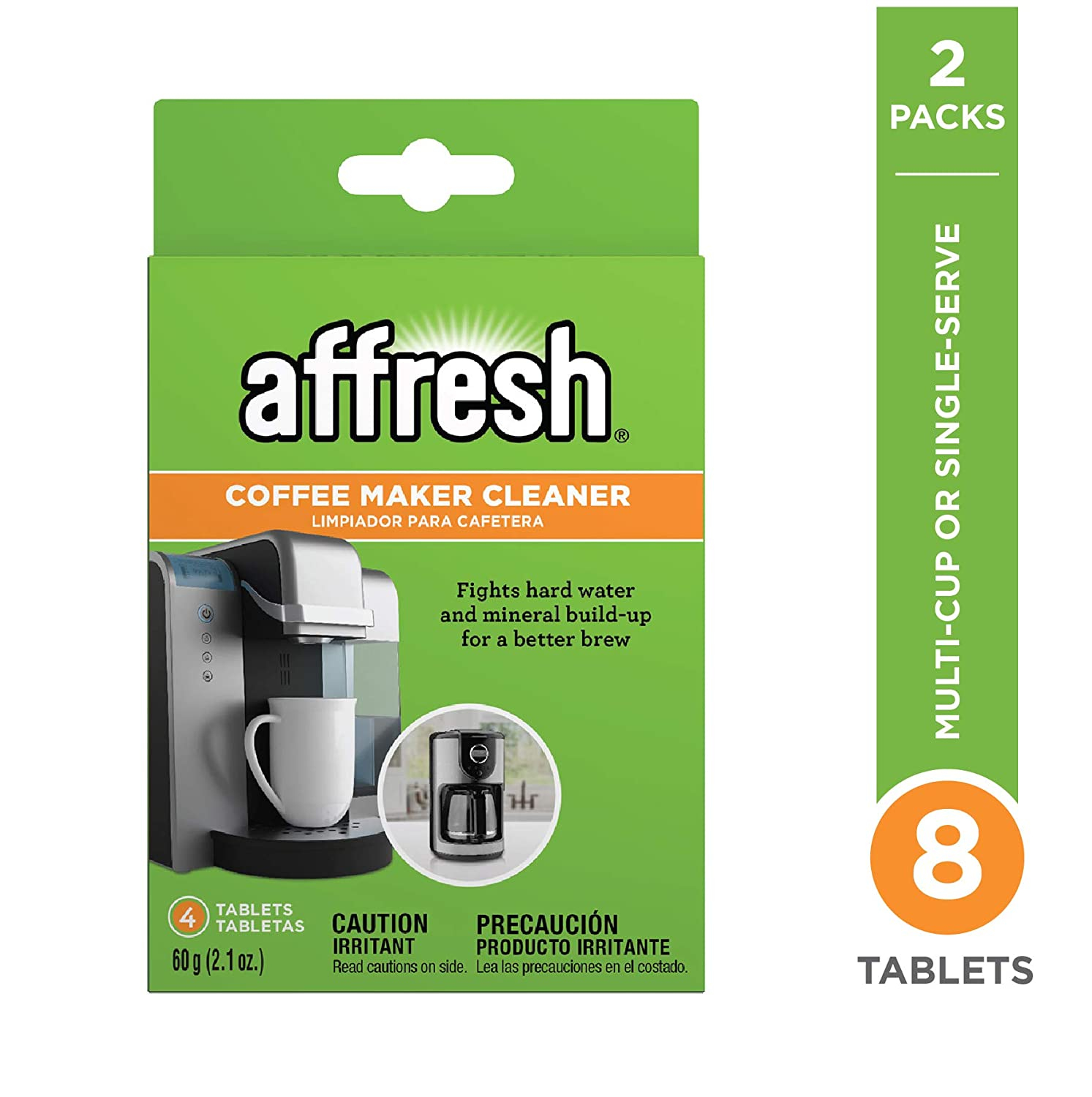 affresh W10511280M2 4ct 2 Pack coffeemaker Cleaner