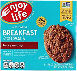 product image for Enjoy Life Foods - Soft-Baked Breakfast Fruit & Oat Ovals Berry Medley - 5 Bars