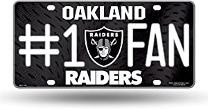 NFL Oakland Raiders #1 Fan Metal License Plate Tag