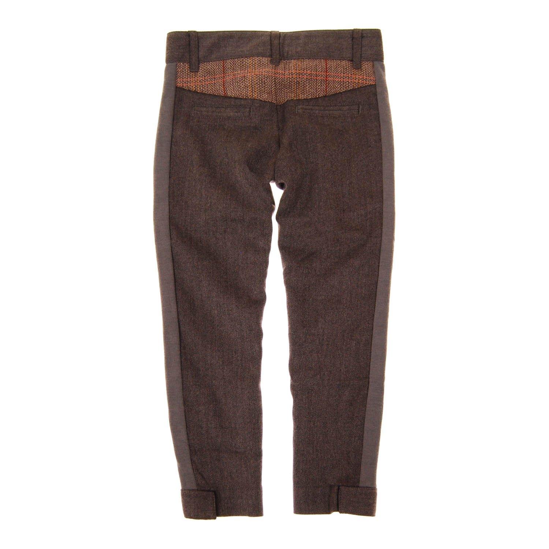 Mini Shatsu Big Boys Herringbone-Tweed Pants