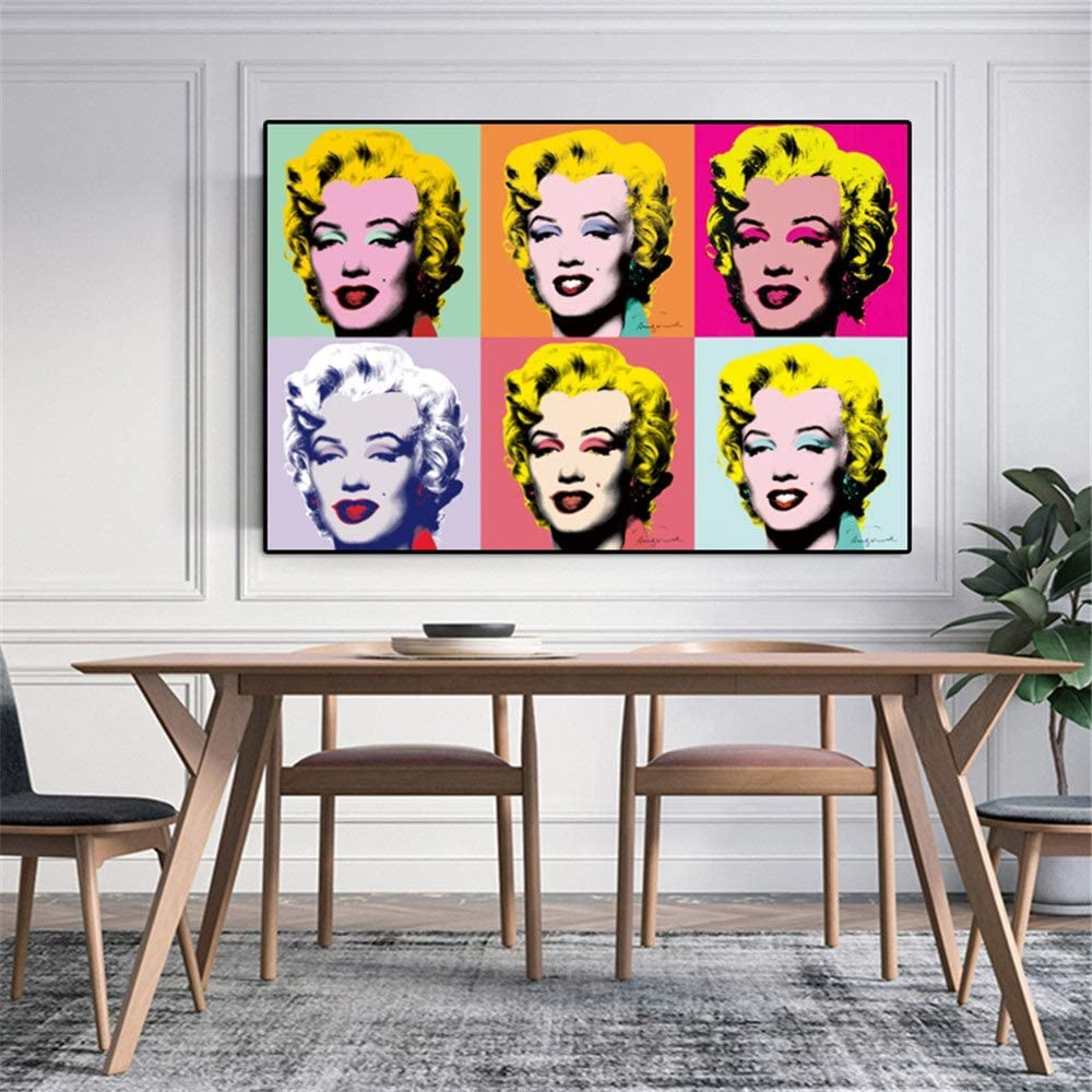Famosa Marilyn Monroe de Andy Warhol Lienzo de Pintura Cuadros de la Pared for Las Pinturas de la Sala Moderna Cuadros Pop Art Inicio Decorativos Foto Stampata
