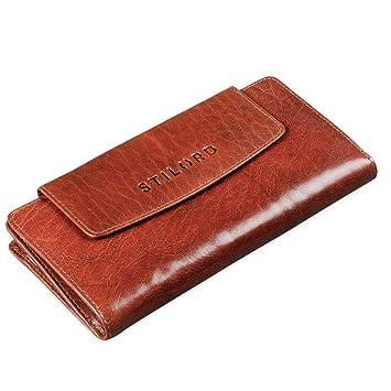 STILORD Lorelai Cartera Piel Mujer Monedero Grande Vintage Billetera para Tarjetas DNI Billetes de