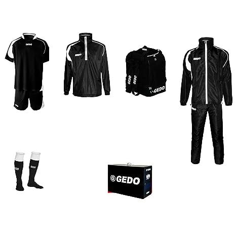 Amazon.com: GEDO Set Troya Soccer Training Kit, Black with ...