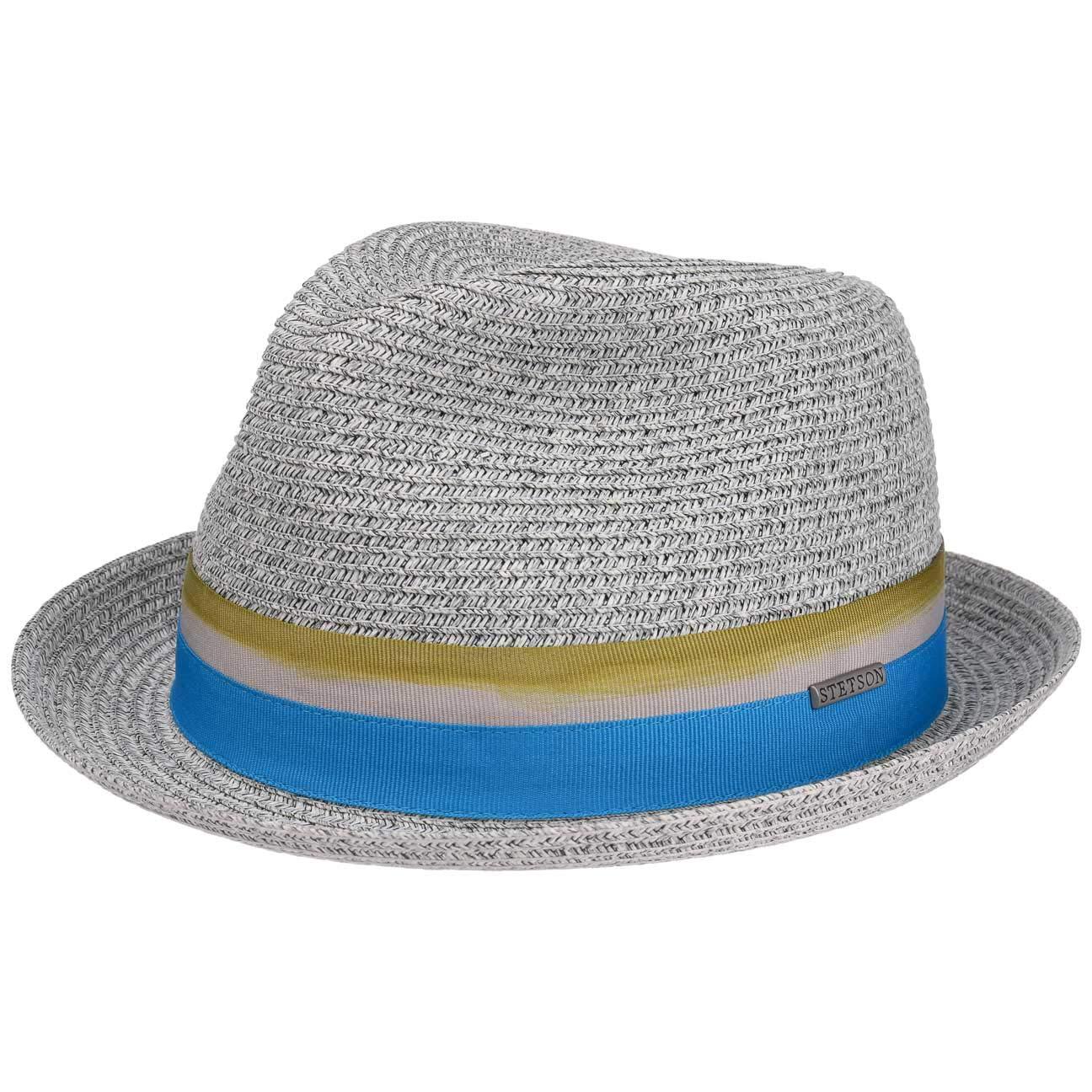 da Sole Estivo con sottogola Primavera//Estate Stetson Cappello di Paglia Striped Ribbon Donna//Uomo