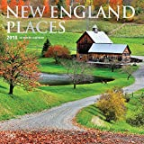 New England Places 2018 12 x 12 Inch Monthly Square Wall Calendar, USA United States of America East Coast Scenic Nature (Multilingual Edition)