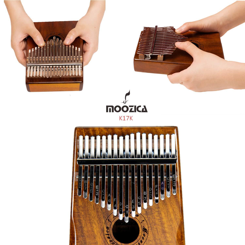 Moozica 17-Key EQ Kalimba, Koa Tone Wood Electric Finger Thumb Piano Built-in Pickup With 6.35mm Audio Interface and Professional Kalimba Bag by Moozica (Image #4)