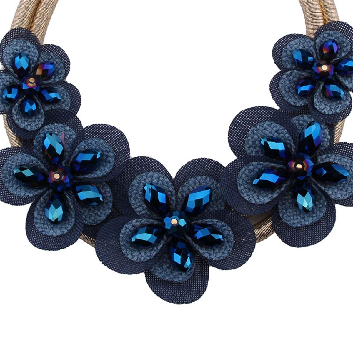 KTYX European and American Flower Necklace Multi-Layer Short Paragraph Wild 87cm Jewelry by KTYX (Image #2)
