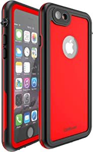 CellEver iPhone 6 Plus / 6s Plus Waterproof Case Shockproof IP68 Certified SandProof Snowproof Full Body Protective Cover Fits iPhone 6 Plus and iPhone 6s Plus KZ C-Red