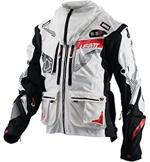 Leatt GPX 5.5 Enduro Mens Off-Road Motorcycle Jackets - White/Black Large