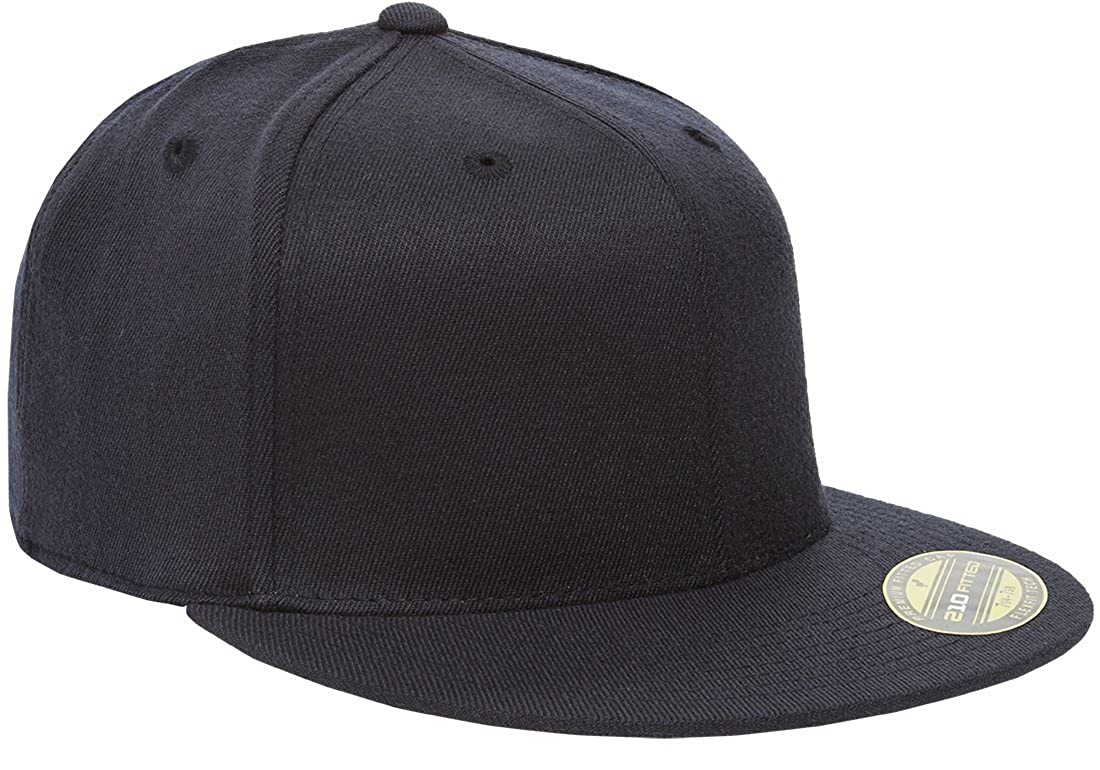 c04d8ff9665 Amazon.com  Flexfit Premium 210 Fitted Flat Brim Baseball Hat  Clothing