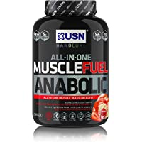 USN Muscle Fuel Anabolic Muscle Gain Shake Powder, Strawberry, 2 kg