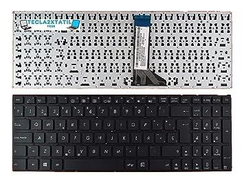 Teclado Compatible DE Y para PORTATIL ASUS X553M EN ESPAÑOL SIN Marco Negro Nuevo SP Keyboard New: Amazon.es: Electrónica