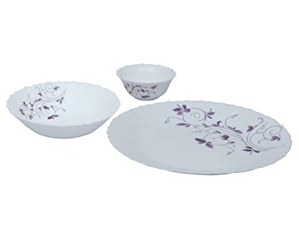 Laopala Diva Opalware Dinner Set-Dazzle Purple 10Pcs