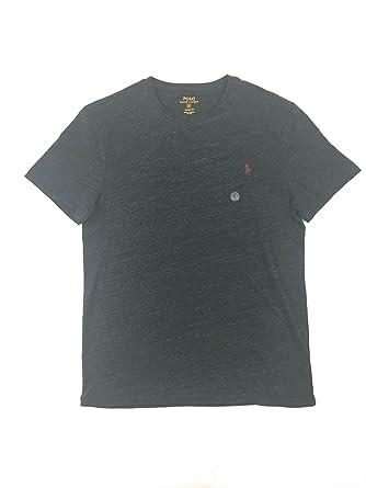 Polo Ralph Lauren Mens Short Sleeve Custom Slim Fit T-Shirt (M, Black
