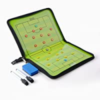 Firlar Foldable Football Soccer Magnetic Tactic Board Coaching Board with Marker pieces