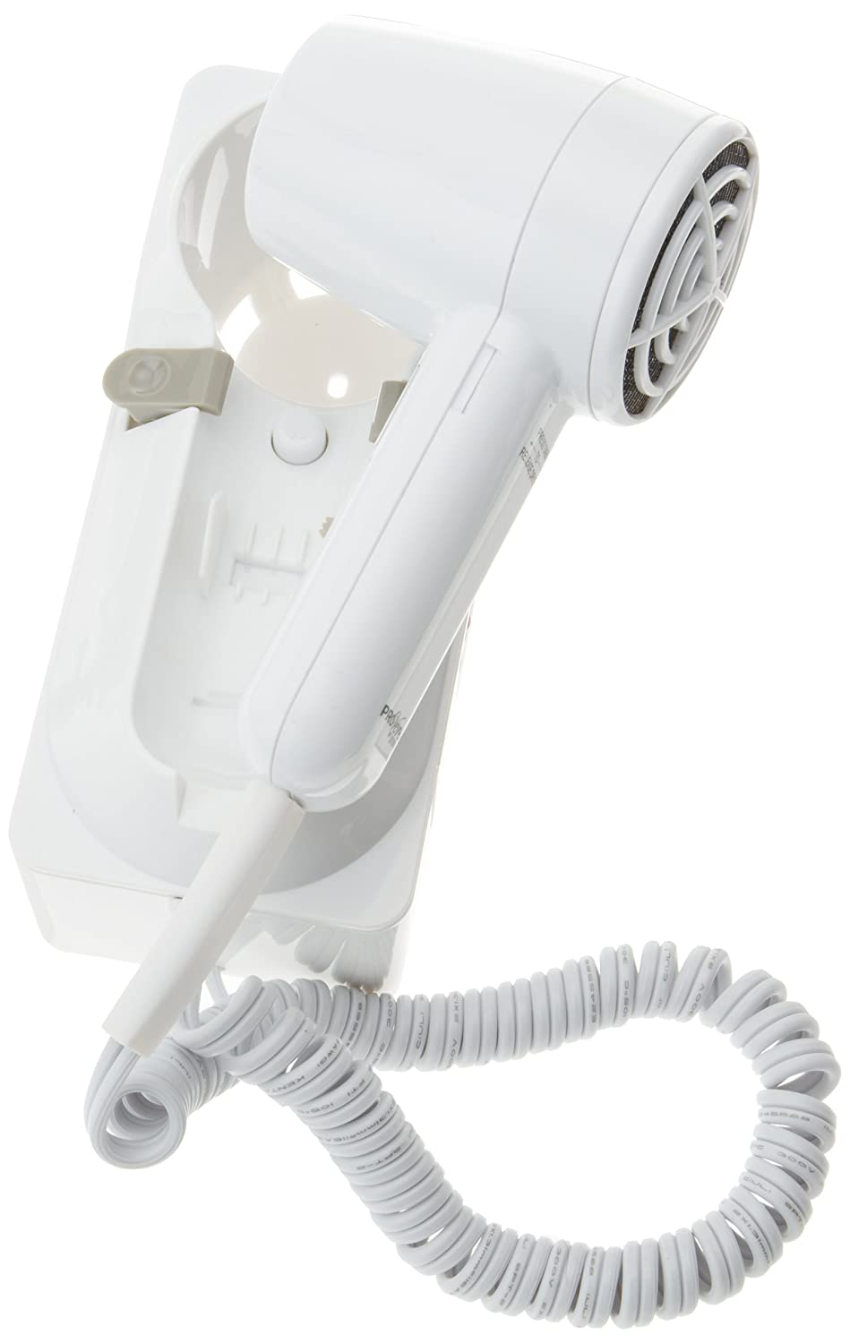 ProVersa JWM6CF Wall Caddy Hair Dryer with 2-Speed and 3-Heat Settings, 1600-Watts, White Finish