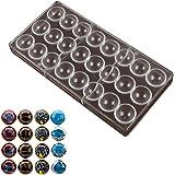 Molde De Policarbonato 3D Para Chocolate, 24 Cavidades En Forma De Diamante, Moldes Para Hacer Caramelos, Bandeja Para Gallet