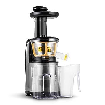 Klarstein Fruitpresso Nero II Licuadora vertical Slow acero inoxidable (150W, 80 rev/min, 2 jarras 800ml): Amazon.es: Hogar